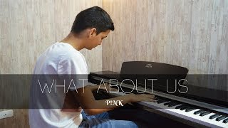 P!nk - What About Us | Piano Cover + Sheet Music