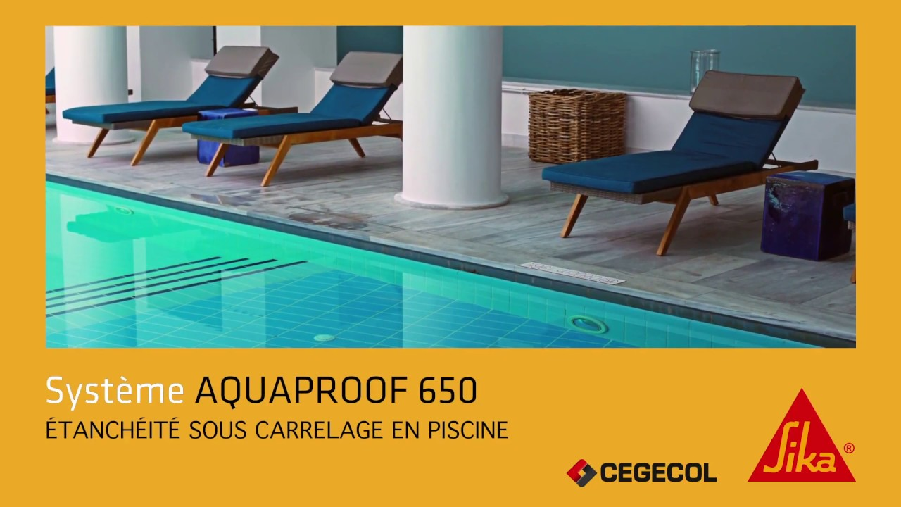 r aliser l 39 tanch it sous carrelage en piscine syst me aquaproof 650 youtube. Black Bedroom Furniture Sets. Home Design Ideas