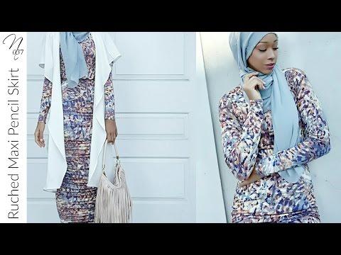 Nadira037   Ruched Maxi Pencil Skirt Tutorial