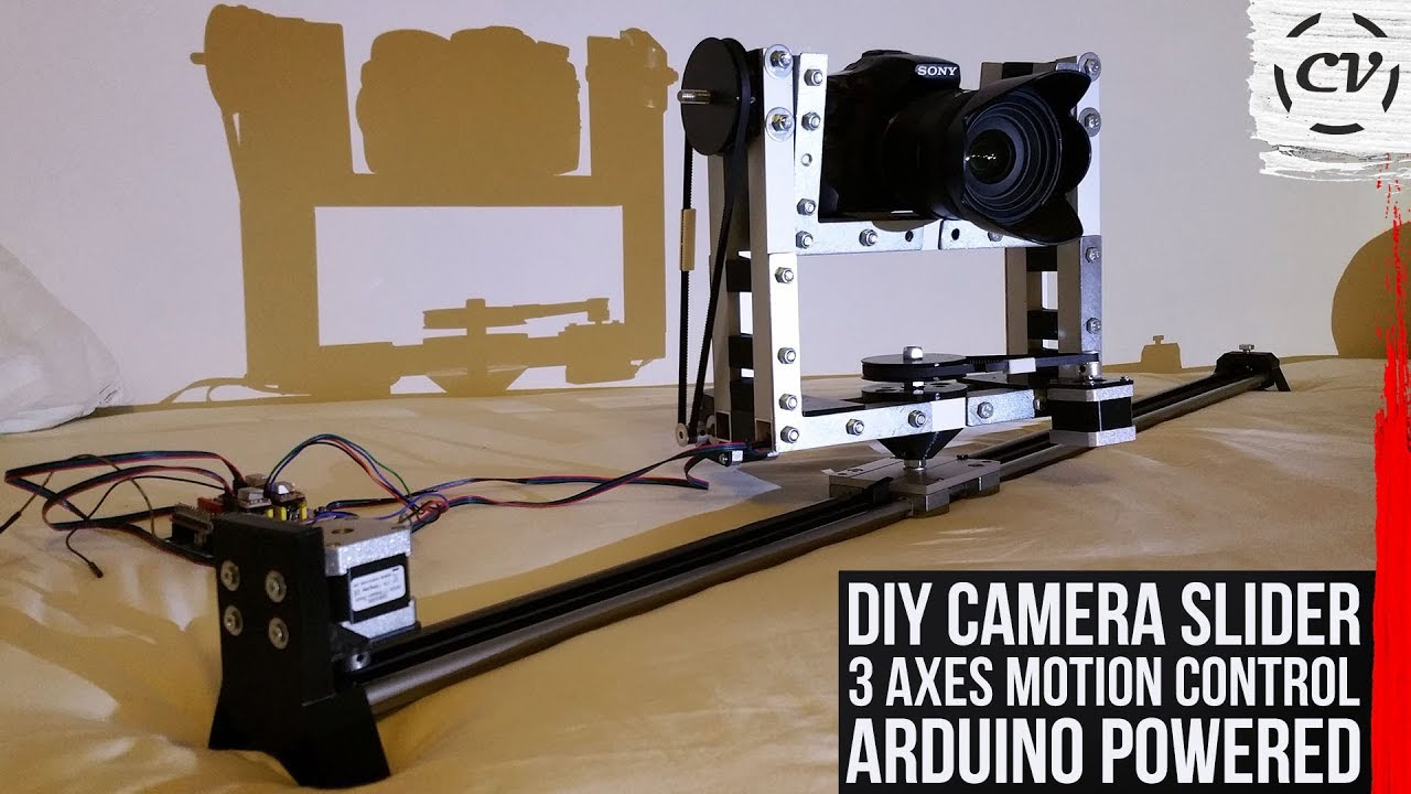 Diy Camera Slider Done 3 Axes Motion Control Arduino Powered