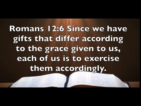 Romans 12:6 - Spiritual Gifts Exercise Them Accordingly - YouTube we have gifts that differ biblical parenting