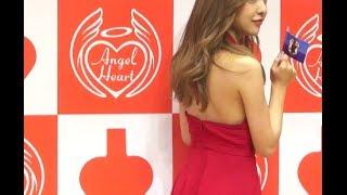 元AKB48の板野友美が、都内で行われた『エンジェルハート新作フレグラン...