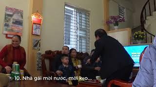 Lễ thăm hỏi thăm nhà trước khi ăn hỏi và cưới và thủ tục trước khi ăn hỏi dạm ngõ xin cưới