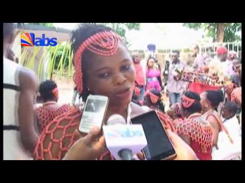 Woman Promotes Culture Through Ogene Music Display