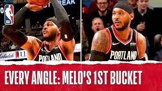 Every Angle: Melo's 1st Bucket With Portland!