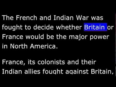 American History - Part 009 - British - French Wars -