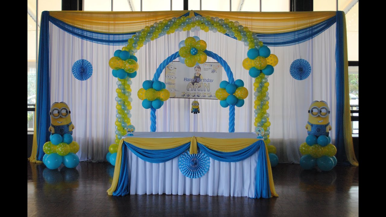 Despicable Me Minion Theme Decorations Specialized for Balloon