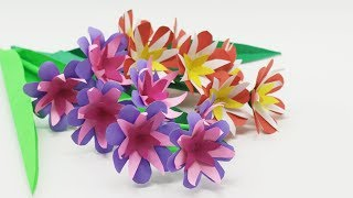 How to make Colorful DIY Artificial Flower  DIY Desk Decoration Ideas  Stick Flower  Craft