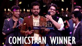 Nishant Suri winner of COMICSTAAN Season 1 | Amazon Prime Video | Kanan, Tanmay, Kenny, Biswa
