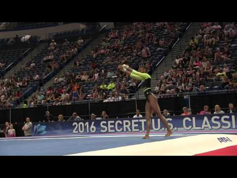 Trinity Thomas - Floor Exercise - 2016 Secret U.S. Classic - Junior
