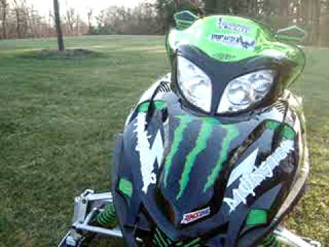 Remove Sticker From Windshield >> Monster Energy Snowmobile Arctic Cat F7 - YouTube