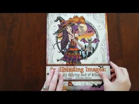 Flip Through – Spellbinding Images: A Fantasy Coloring Book of Witches – New Extended Edition