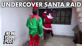 VIDEO. Policías se disfrazaron de Papá Noel para detener a un narcotraficante