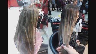 Окрашивание волос омбре, шатуш, балаяж от Инессы Мятенко. Бережное осветление с Niophlex(, 2016-02-03T00:52:17.000Z)