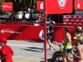Ashley, Laura & Meghan cross finish line with Sam at BofA Chicago Marathon