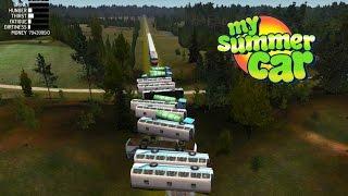 My Summer Car #42 | Trucks y Buses vs Tren