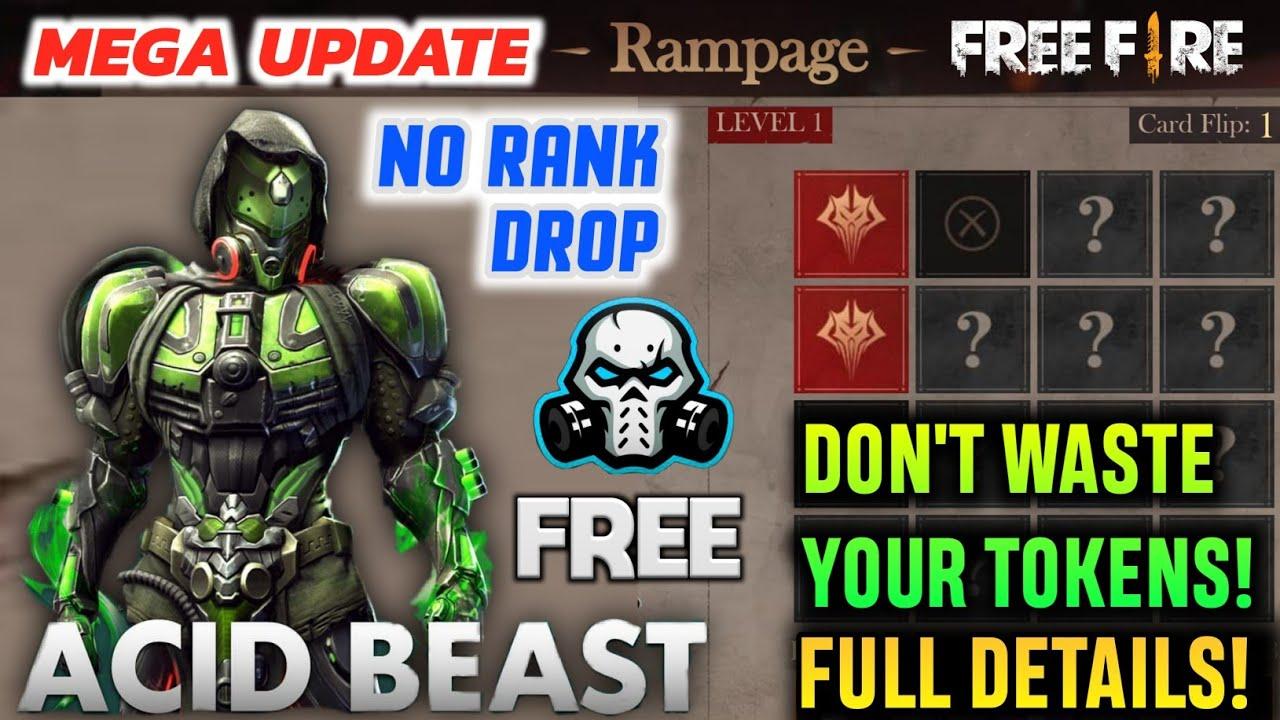 FREEFIRE Rampage Flip Event Details , No Rank Drop , Venom