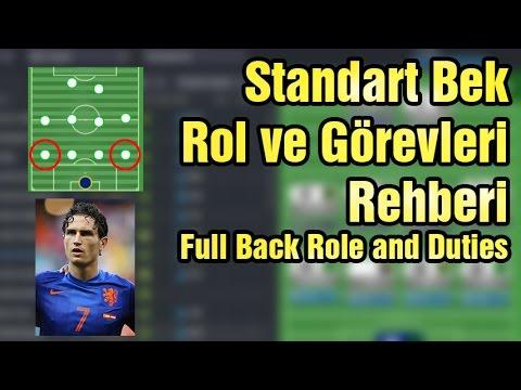 FM Standart Bek Rol Ve Görevleri Rehberi Full Back Role And Duties | Football Manager