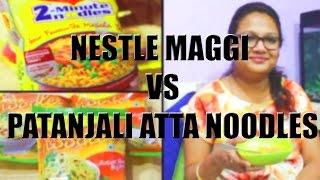 Nestle Maggi Noodles Vs Patanjali Atta Noodles |Baba Ramdev Noodles |LIVE TEST