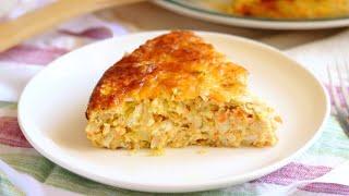 Запеканка из капусты с сыром в духовке видео рецепт Вкусная ПП капустная запеканка без муки