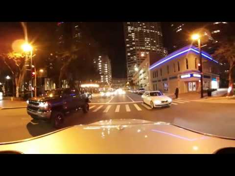 360 Night Time Drive Through Downtown Tampa