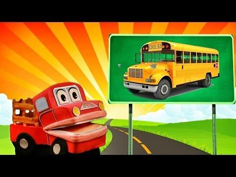 Barney el camion- Aprendemos los sonidos de los transportes - Video Educativo para niños #