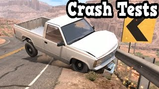 BeamNG Drive - Guardrail Crash Tests