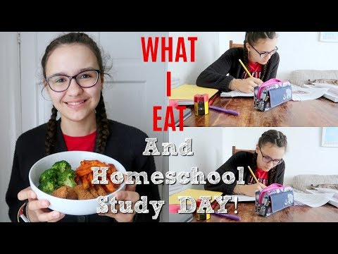 WHAT JEAN EATS IN A DAY + HOMESCHOOL STUDY DAY!🎓