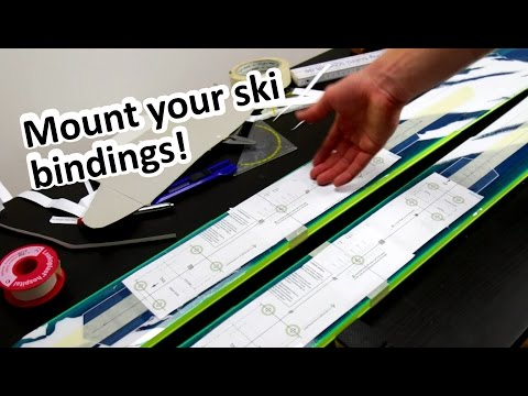 How to mount your Ski Bindings at HOME!   Part 1