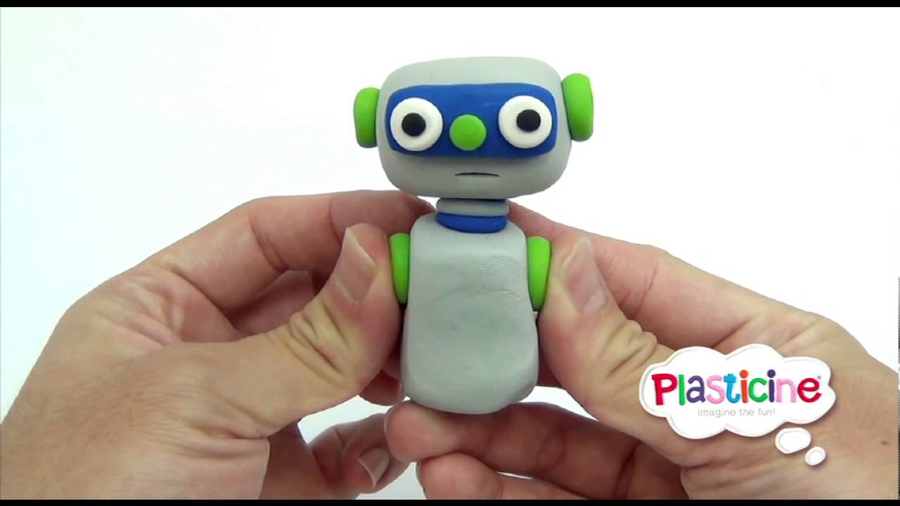 Robot from plasticine: how to make a toy with your own hands