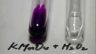 実験室4.過マンガン酸カリウムと過酸化水素KMnO4+H2O2 hydrogen peroxide.MTS