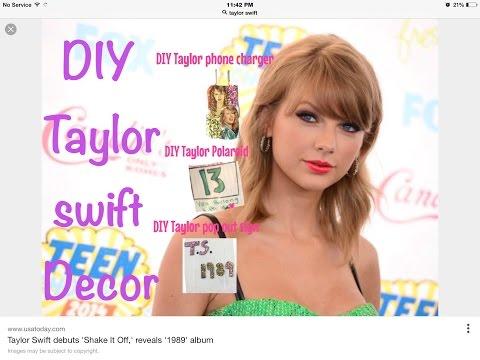 DIY TAYLOR SWIFT ROOM DECOR