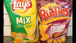 Lay's Mix Pizza & Queso And Ruffles Sabor A Jamon Review