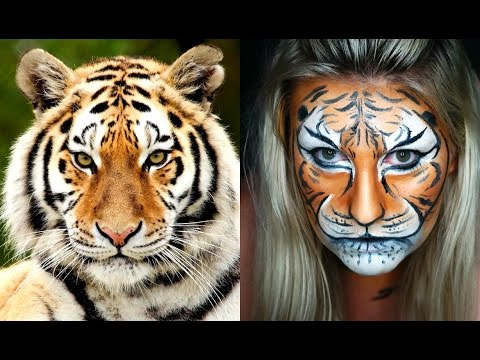 Tiger Transformation Tutorial | Halloween Makeup