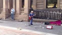Wee Kris 10yr old busker in Glasgow
