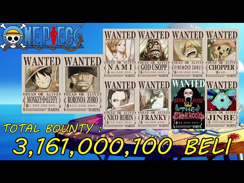 Download One Piece Straw Hat Pirates' All Wanted Posters New Updated