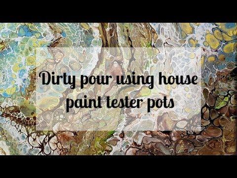 17 Acrylic Dirty Pour - Pebbles on the Beach