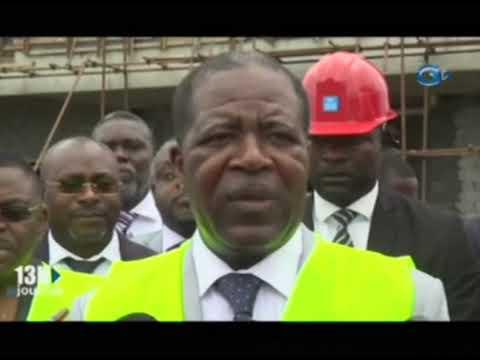 Visite de chantier du futur palais des sports de Libreville par le Ministre des Sports