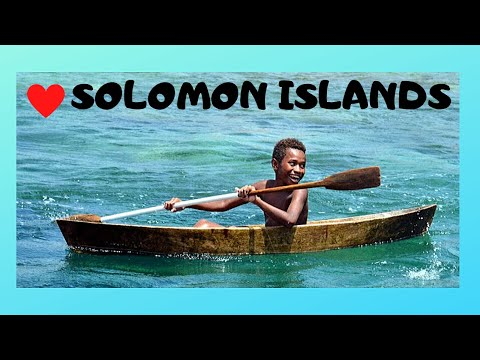 The canoes of the SOLOMON ISLANDS, beautiful cultural images (Pacific Ocean)