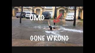 SURFING IN HURRICANE IRMA *GONE WRONG*