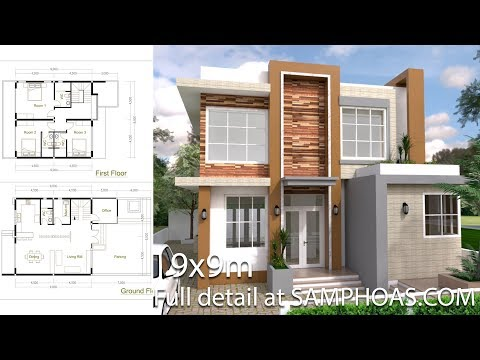 Sketchup Modern Home Plan 9x9m Redesign