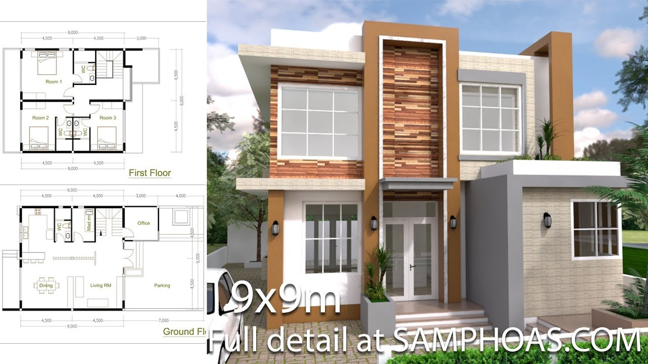 Sketchup Modern Home Plan 9x9m Redesign - YouTube on home production, home architecture, home blog, home graphics, home reconstruction, home planning, home update, home curb appeal, home staging, home technology, home color, home renovation, home construction, home mobile, home great rooms, home extensions, home logo, home recycling, home design, home photography,