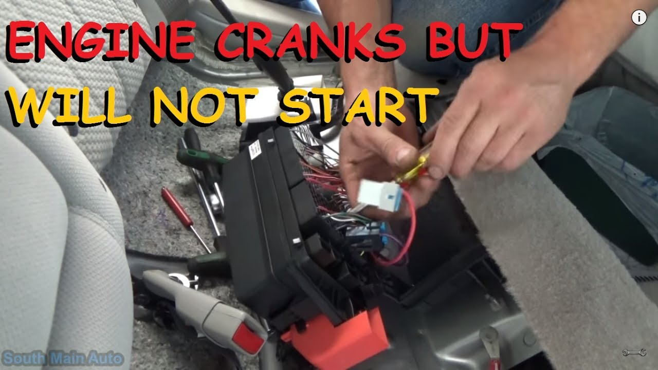 Buick Lucerne Crank No Start Fuel Pressure Youtube Rendezvous Cxl 2002 Electric Seat Issues