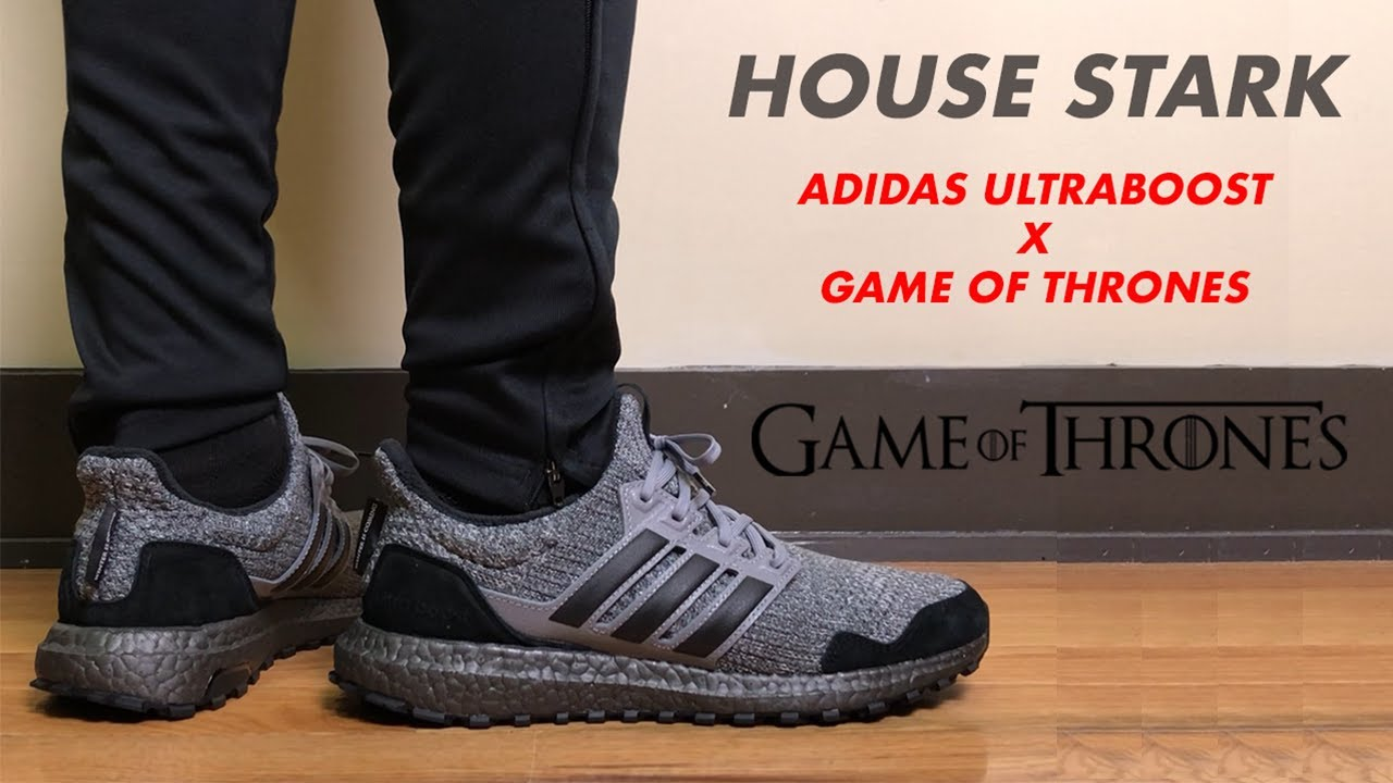 persona Decoración neutral  Adidas Ultra Boost x Game of Thrones House Stark Review and On Feet -  YouTube