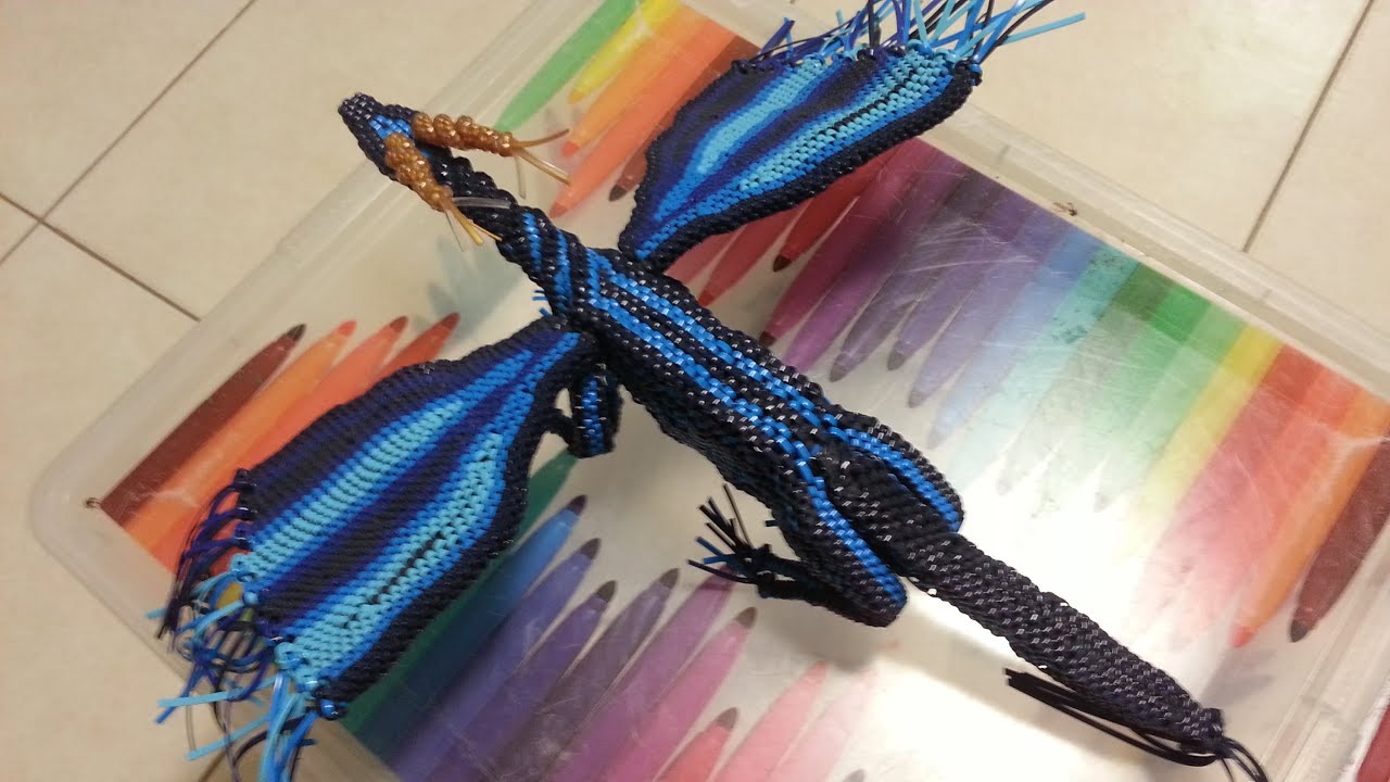 how to make a lanyard dragon part 10 adding strings