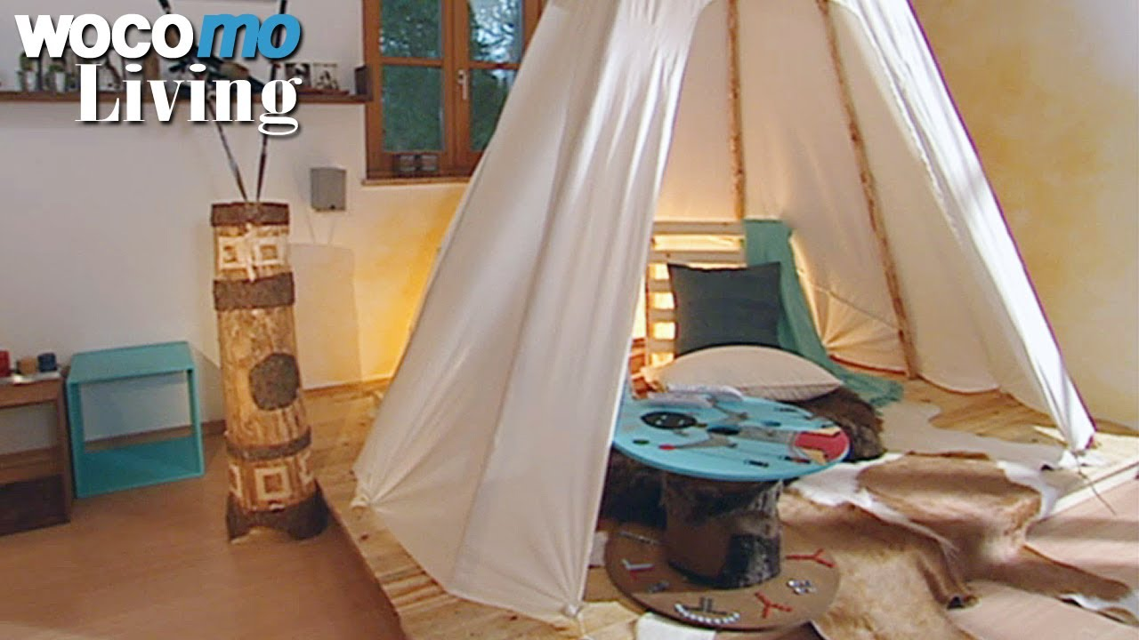 tipi zelt f rs wohnzimmer bauen tapetenwechsel br staffel 9 folge 5 youtube. Black Bedroom Furniture Sets. Home Design Ideas