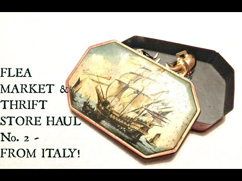 Italy Thrift Store & Flea Market Haul Video - Selling on Etsy & Ebay- Vintage Haul Tips and Tricks