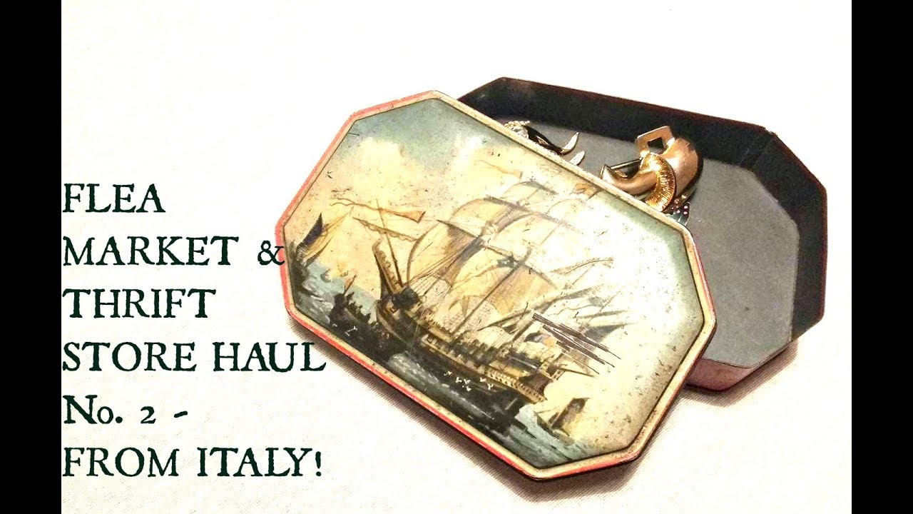 Italy Thrift Store & Flea Market Haul Video - Selling on Etsy & Ebay- Vintage Haul Tips and