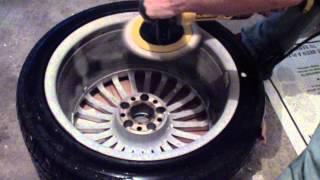 Polishing Mercedes SL55 AMG  wheels baked on brake dust removal