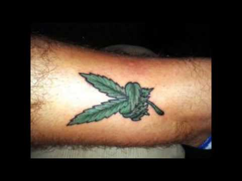 Top weed tattoo Designs